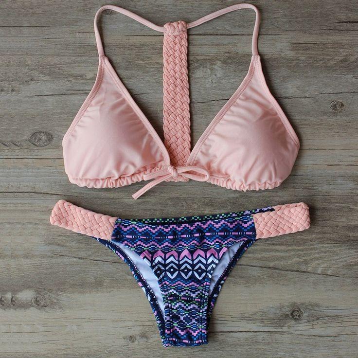 Hot Bandage empurrar para cima do biquíni 2016 Swimwear mulheres Set Bikini brasileiro Sexy maiô Beachwear Biquini Maillot De Bain em Set biquinis de Esporte e Lazer no AliExpress.com | Alibaba Group