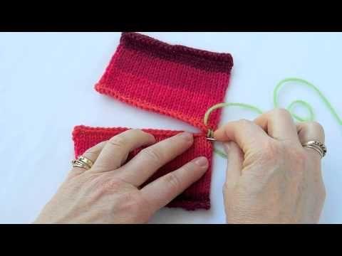 2 tricot bovenkanten in elkaar zetten