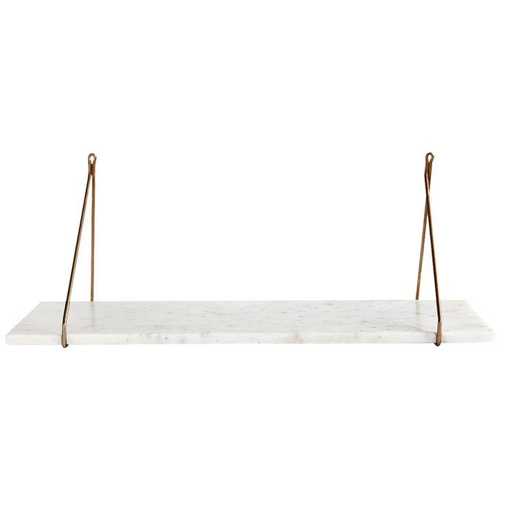 Apart hylly, valkoinen marmori/messinki ryhmässä Huonekalut / Säilytys / Hyllyt @ ROOM21.fi (Housedr3)