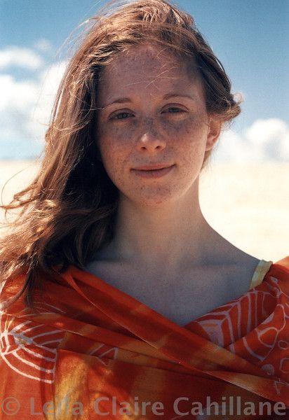 Lina à la plage
