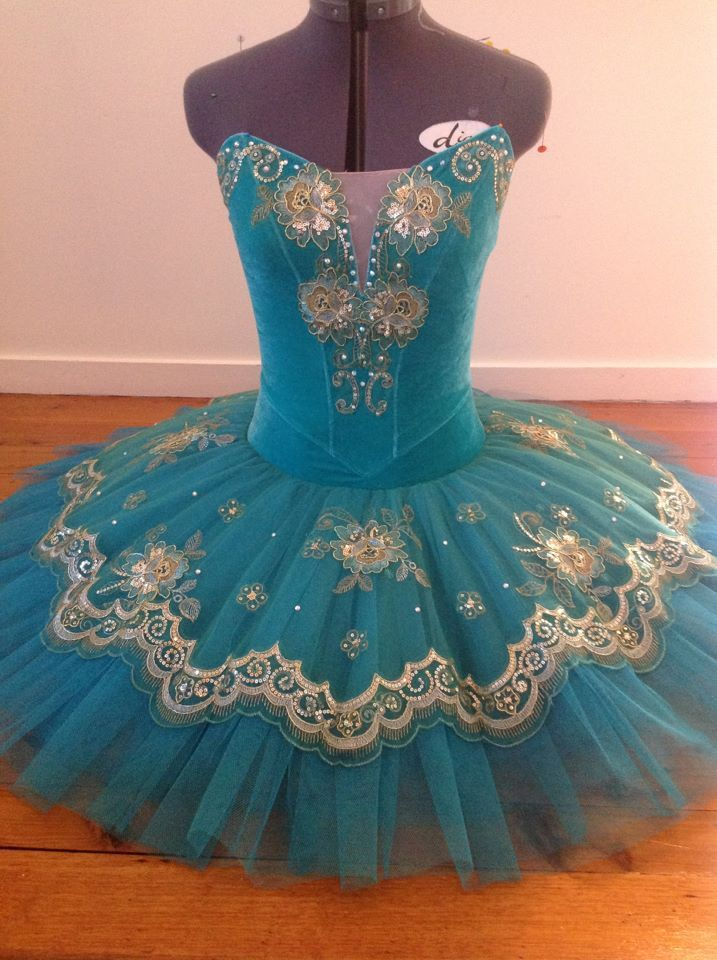 Teal. www.theworlddances.com/ #costumes #tutu #dance