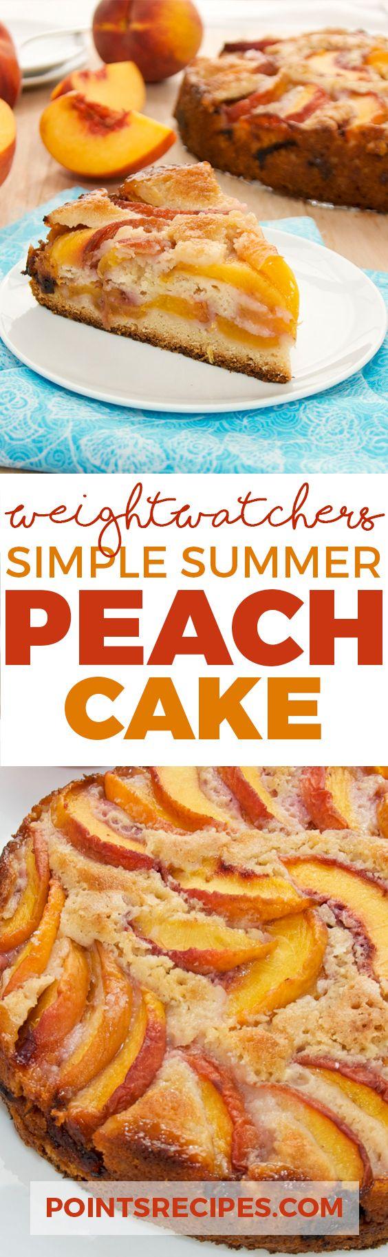 SIMPLE SUMMER PEACH CAKE (Weight Watchers Smartpoints)