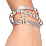 silk and sterling silver bracelet - Beblue's special edition for the Nut cracker market
