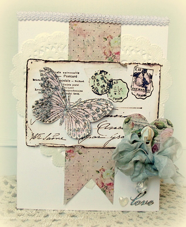 Beautiful shabby chic card from Melissa