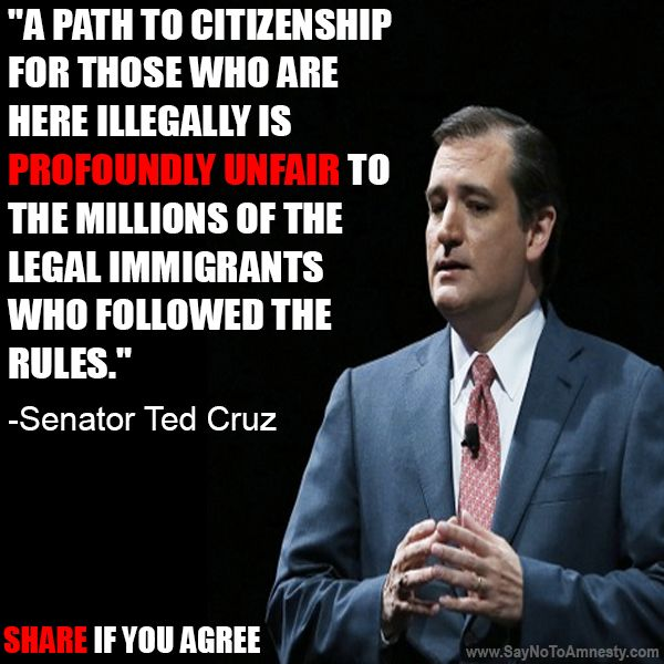 It's about time somebody got it and actually said it out loud! Why reward them for breaking our laws?
