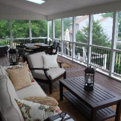 screened in porch furniture. the right furniture and decor gives finishing touch to this beautifully designed screened porch overlooking in