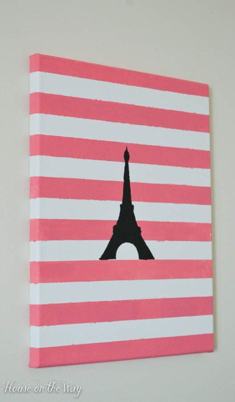 DIY Paris Themed Art
