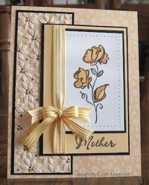 lovely floral card by lorie