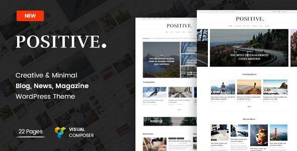 Positive - Blog, News, Magazine #WordPress Theme - Blog / Magazine WordPress Download here:  https://themeforest.net/item/positive-blog-news-magazine-wordpress-theme/19698035?ref=classicdesignp