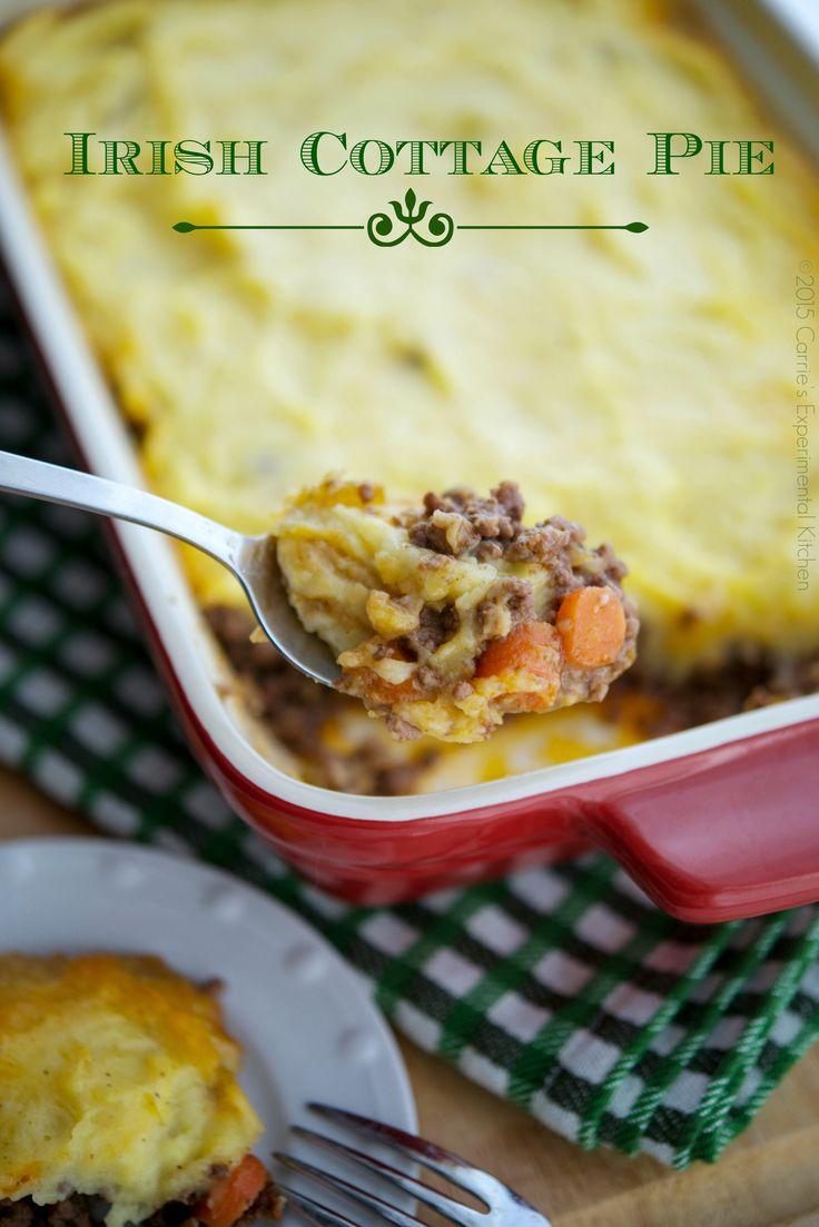 Irish Cottage Pie   Carrie's Experimental Kitchen #beef #stpatricksday #glutenfree