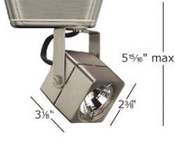"WAC Lighting JHT 802 WT J SERIES LOW VOLT TRACK HEAD 50W by WAC Lighting. $41.31. Contemporary square with domed mesh back vent       Integral electronic transformer.       May be fitted with factory installed extensions       Track System:J or J2       Max Watt:50w        Finish:WT-White       Lamp:MR16 (not included)       Lens:Clear lens included Weight : 0.364  Length : 3 1/8""  Width : 2 3/8""  Height : 6""         (N/A - Details Not Available)"