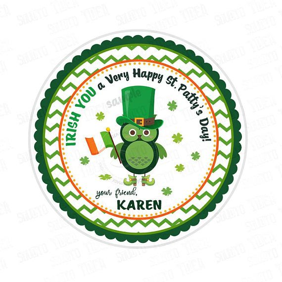 St Patrick's Day Printable Tags-Happy St Patrick's