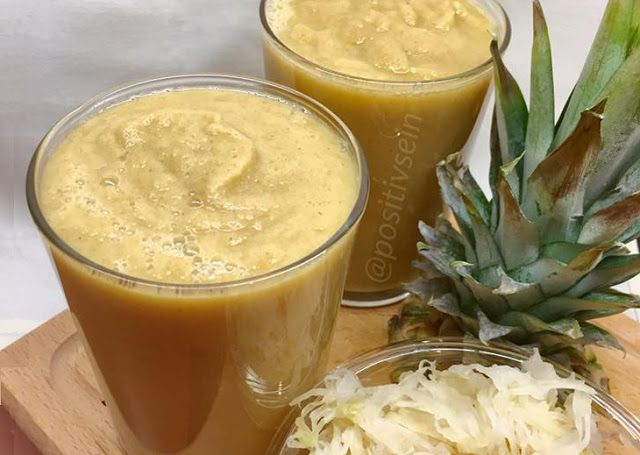 Prozdrowotny koktajl z kiszonką, na odporność, trawienie, oczyszczanie i prawidłową florę bakteryjną