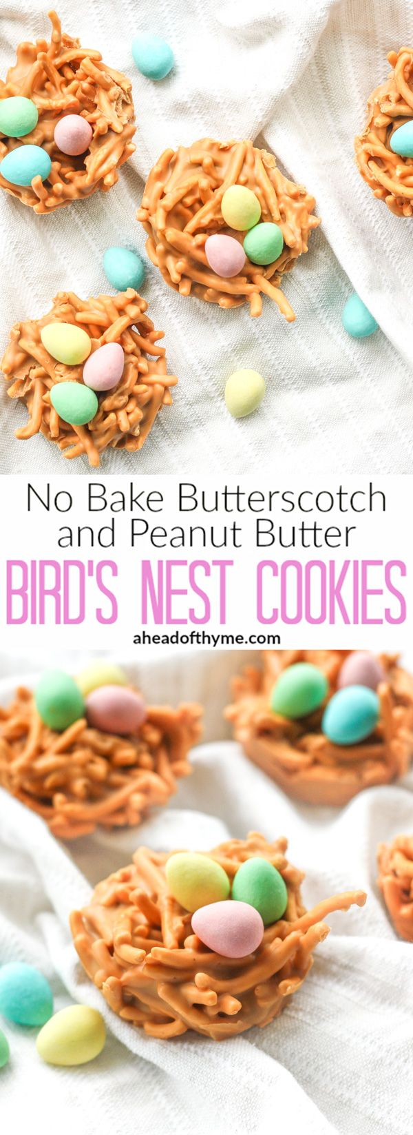 No Bake Butterscotch and Peanut Butter Bird's Nest Cookies: Spring is in the air…