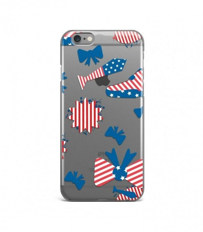 Wonderful Tie and Shoe American Pattern Clear or Transparent Iphone Case for Iphone 3G/4/4g/4s/5/5s/6/6s/6s Plus - USA0071 - FavCases
