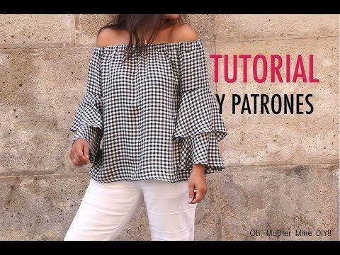 DIY Como hacer blusa de mujer (patrones gratis) - YouTube