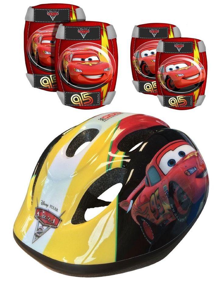 Casco Bicicleta Niño Infantil Disney Cars Talla 53-56 cm Con Protecciones