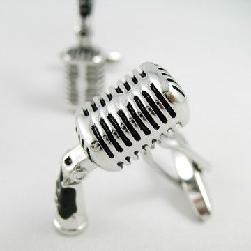 Microphone Cufflinks now featured on Fab.