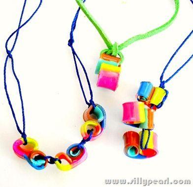 shrink plastic necklaces sq