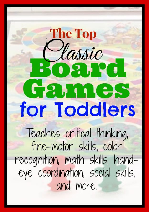 My Favorite Classic Board Games for Toddlers ~ http://serendipityandspice.com