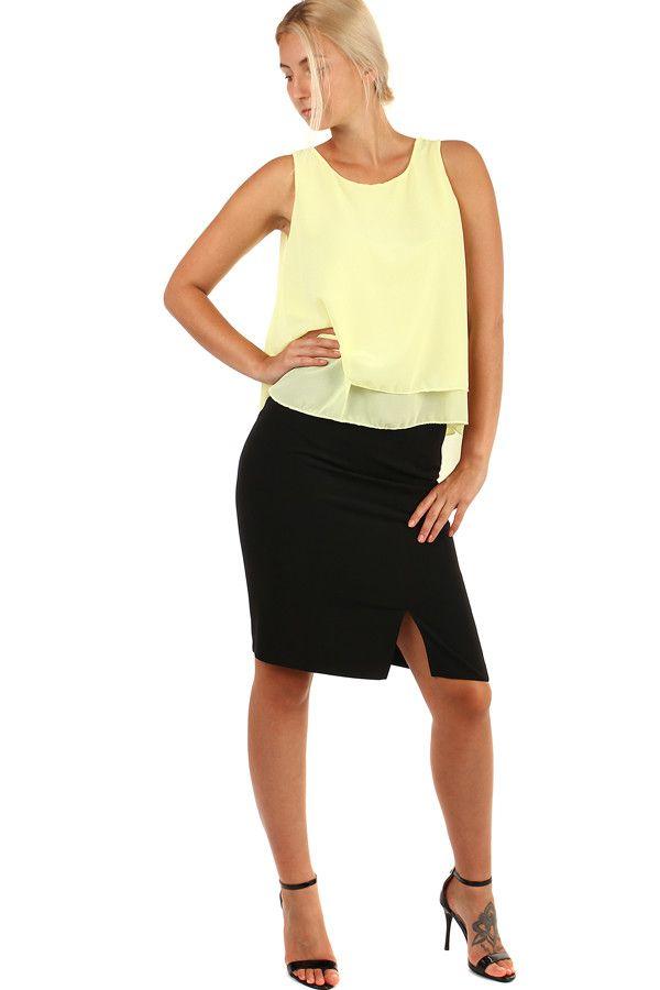 6fae5f315ae9 Elegantní černá dámská krátká sukně s rozparkem - koupit online na Glara.cz   glara