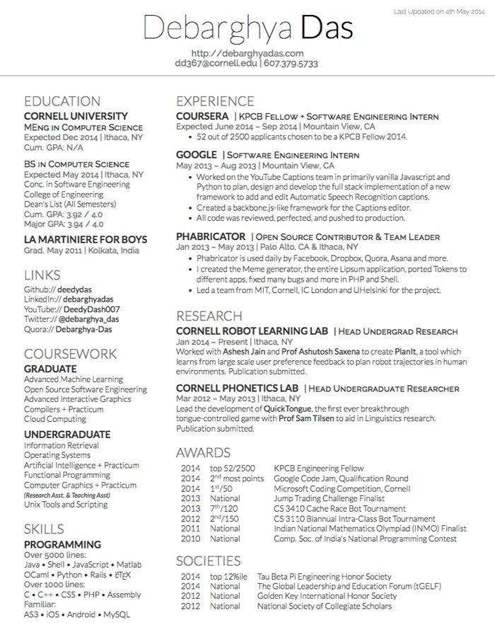 Wonderful Latex Template Resume 43 Best Latex Images On Pinterest Latex Templates And  Role Models
