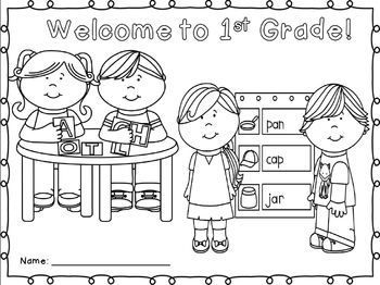 FREEBIE!!!!  Back to School Coloring Sheet for  K-2nd Grades!  PERFECT for 1st…