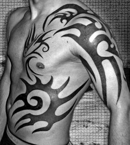 Guys Tattoo # 76 - Amazing tribal tattoo idea for guys, Is not it looking hot? Pin  like:)