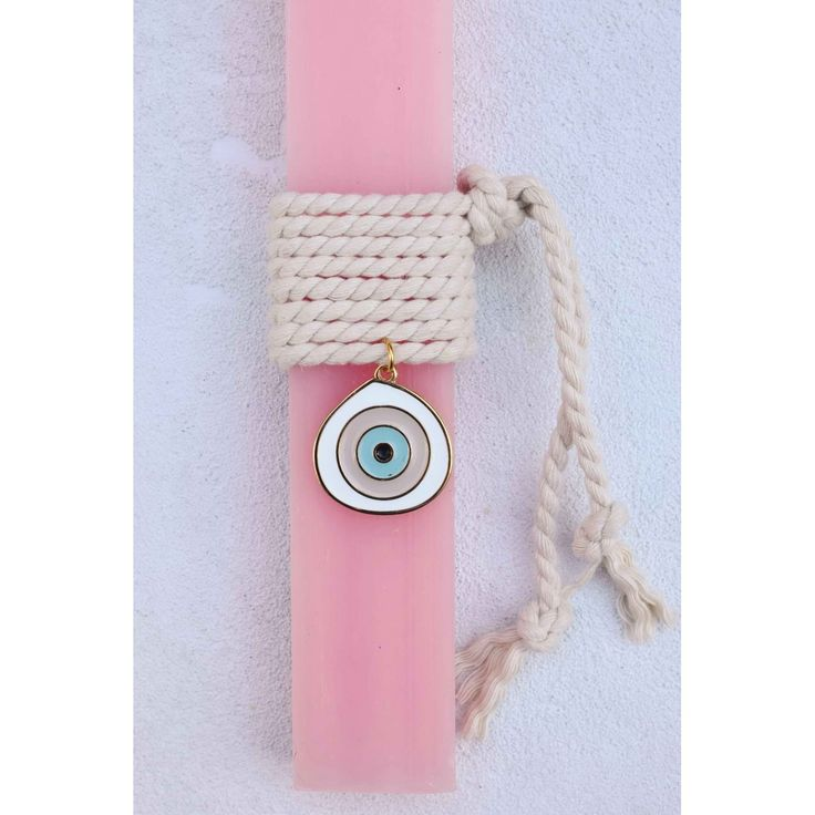 Λαμπάδα ροζ με μάτι