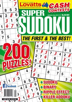 Super Sudoku - Lovatts Super Sudoku is packed with over 100 tantalising number puzzles - each carefully crafted with varying degrees of difficulty