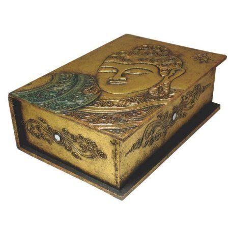 Free Shipping. Buy Stoneage Arts IN 8025 Buddha Gold Book Decorative Box at Walmart.com
