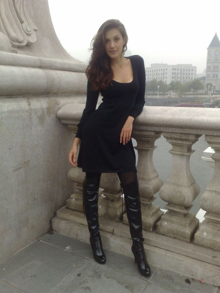 How to wear thigh high boots without looking like a hooker? With tights and a short black dress.