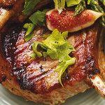 Côtelettes de porc grillées aux figues