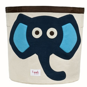 Stylish elephant toy storage.