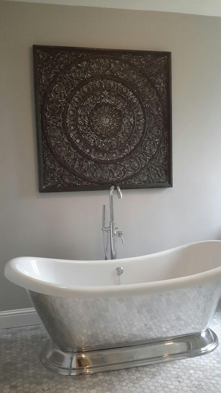 Cast iron aluminium bath