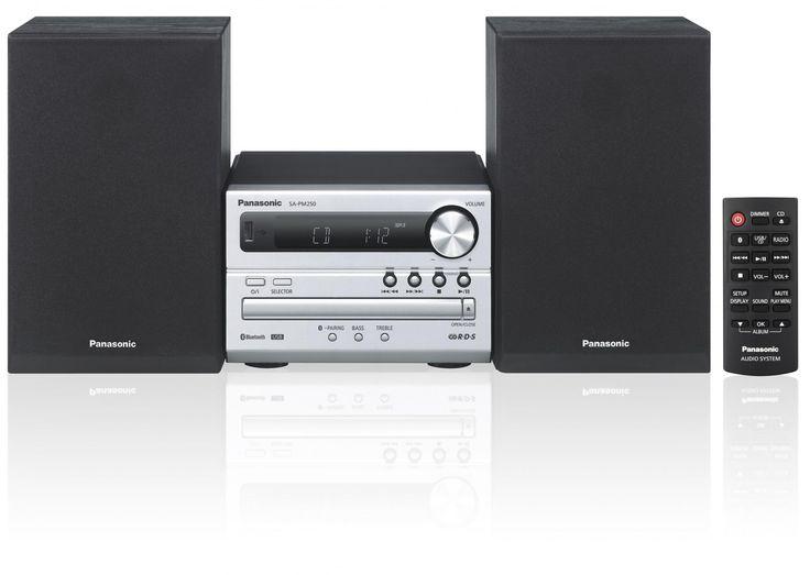 PANASONIC SC-PM250EC-S Mikro Hifi (Bluetooth, USB, CD/MP3 lejátszás, 20 W RMS teljesítmény) | MALL.HU