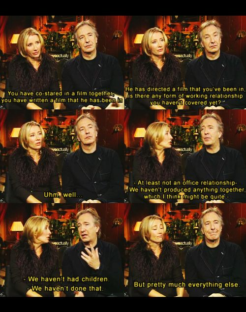 Professors Snape and Trelawney actors - Alan Rickman and Emma Thompson. Two of my favourite actors!