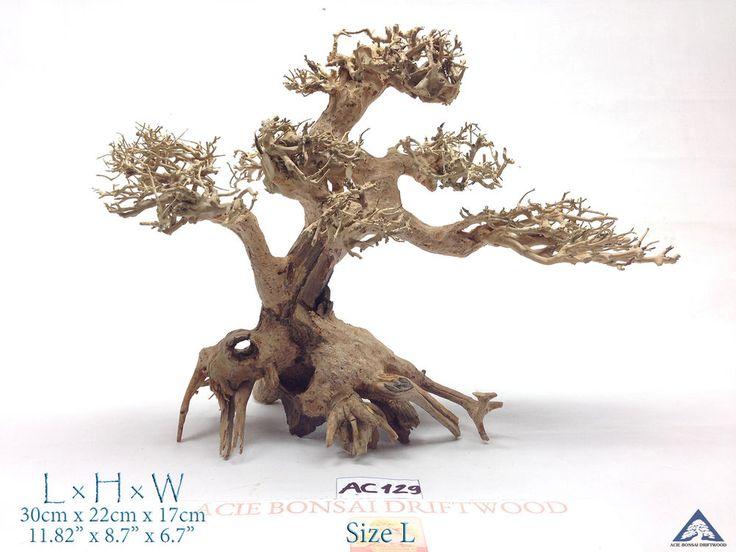 Bonsai Driftwood Tree for Aquarium-Moss Fish Shrimp Planted Tank Decor- AC129 #AcieBonsaiDriftwood