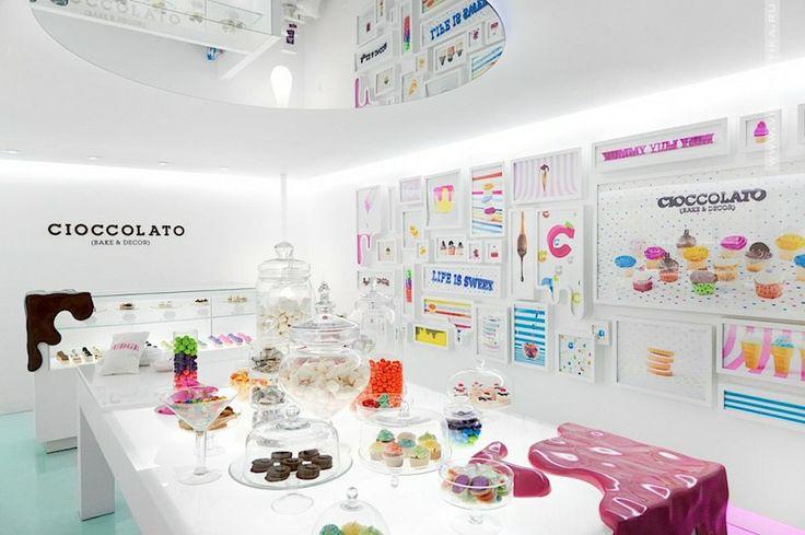 Дизайн кондитерской (Cioccolato) » Витринистика.Ру   Оформление витрин магазинов
