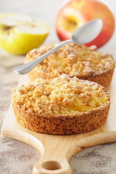 Apfeltörtchen mit Streusel   Zeit: 40 Min.   http://eatsmarter.de/rezepte/apfeltoertchen-mit-streusel