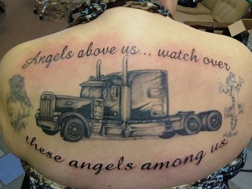 truck tattoos | Big Truck – Tattoo Picture at CheckoutMyInk.com