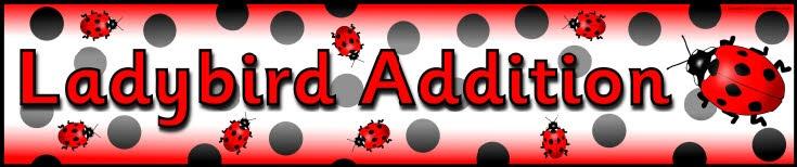 Ladybird Addition display banner (SB9100) - SparkleBox