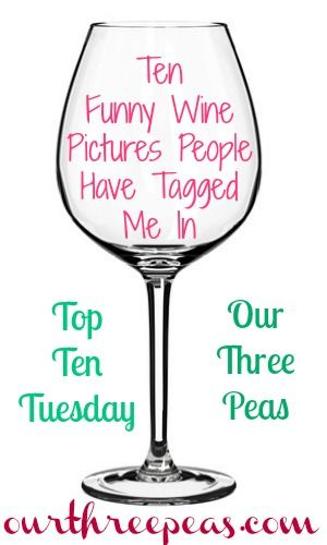 Top Ten Tuesday: 10 funny wine pictures people have tagged me in - Our Three Peas ourthreepeas.com