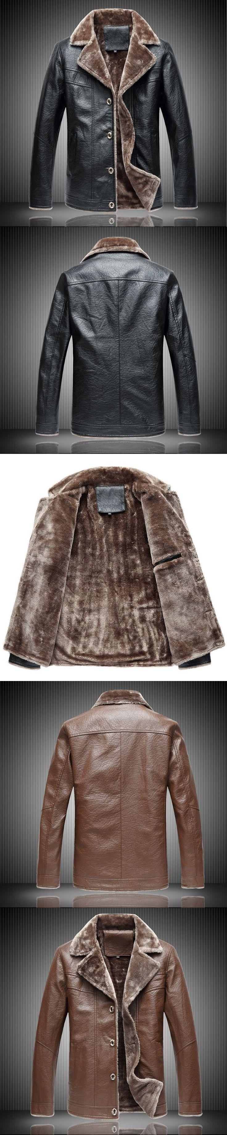Brand High Quality Mens Faux Fur Coats Fashion Winter Warm Jacket Men Brown Red Black Men Leather Jacket Winter Plus Size 5xl