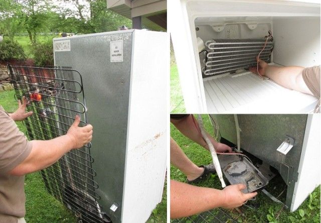 How To Turn An Old Broken Refrigerator Into An Awesome Rustic Cooler For Just $40… | http://www.ecosnippets.com/diy/refrigerator-into-rustic-cooler/