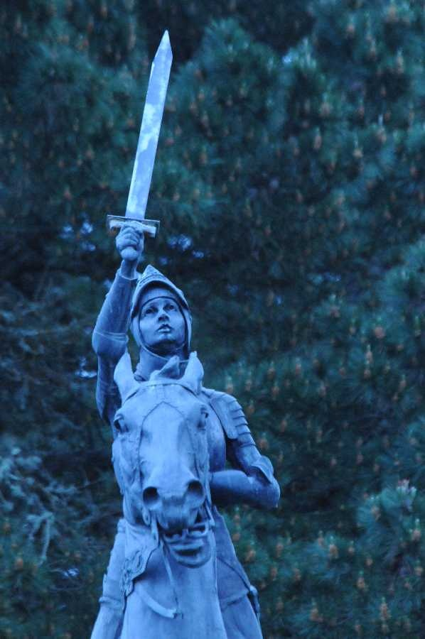 Saint Joan of Arc, patron of soldiers, martyrs, prisoners, & France. May 30. Legion of Honor, San Francisco.