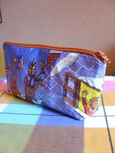 pouch made from plastic bags (tutorial in german)