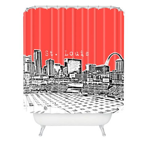 DENY Designs Home Accessories | Bird Ave St Louis Red Shower Curtain