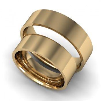 Klasszikus karikagyűrű 6mm sárga sík