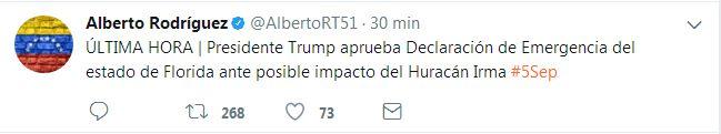 #5Sep @POTUS Aprueba Declaración de Emergencia de Estado en #Florida #HuracanIrma #EEUU - http://www.notiexpresscolor.com/2017/09/05/5sep-potus-aprueba-declaracion-de-emergencia-de-estado-en-florida-huracanirma-eeuu/